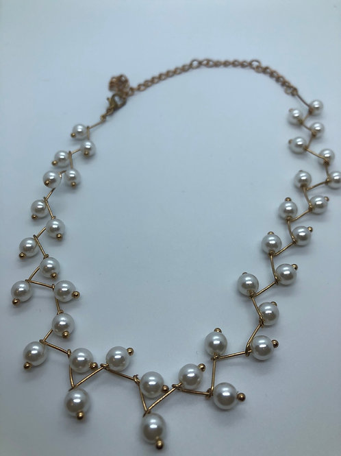 Gold colour rhodium plated brass necklaces