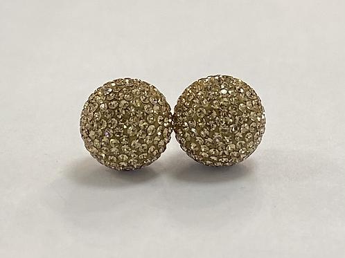 Rose Gold Micropavé Earrings