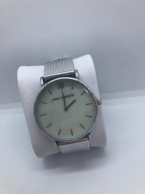 White Silver Watch