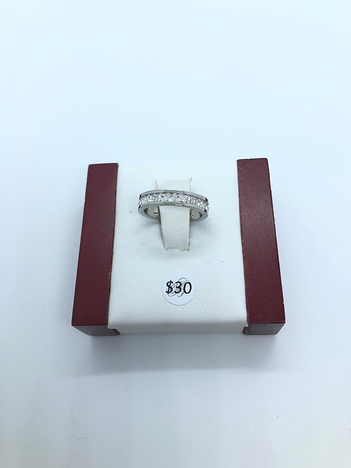 Silver + Cubic Zirconia Ring