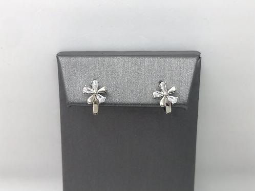 Silver Flower Studs