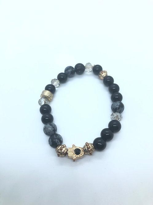 Black + Gold Bracelet