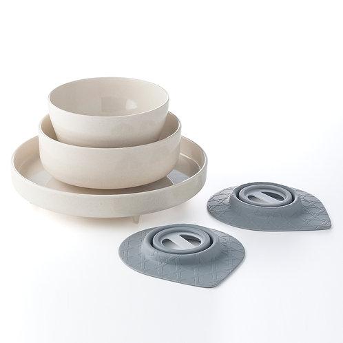 Miniware 天然寶貝碗 : 竹纖維兒童餐具 (五入組) - 牛奶麥片