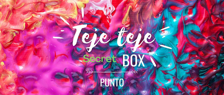 Teje teje secret box punto Sepyiembre 2020