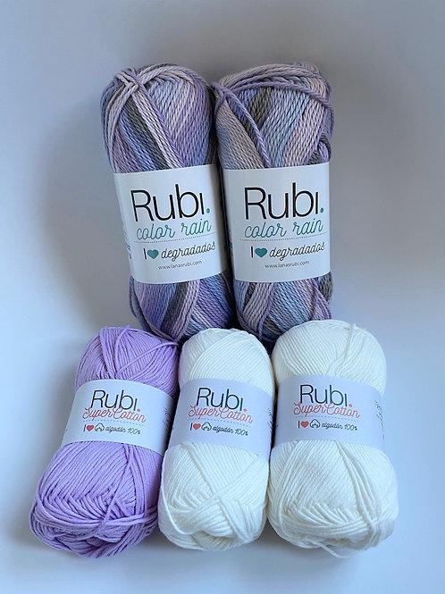Kit algodón Rubí