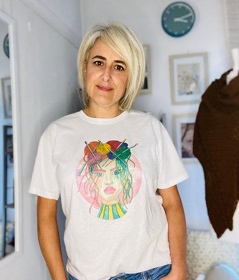 Camiseta para tejedoras