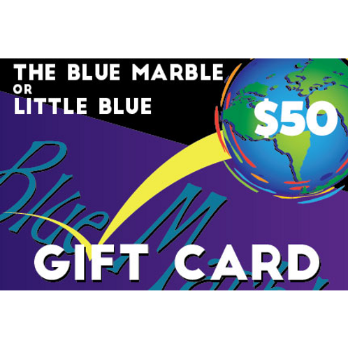 $50 Gift Card for The Blue Marble or Little Blue