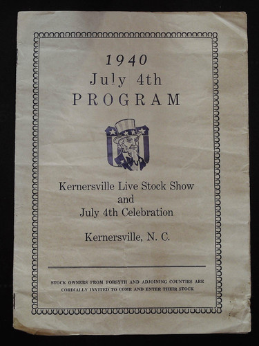1940 Program Cover