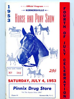 1953 Program Cover