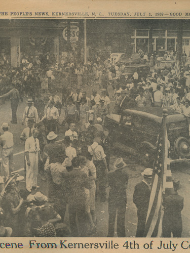 """""""1940 Scene From Kernersville 4th of July Celebration"""" The People's News: July 1st, 1958"""