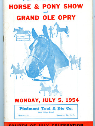 1954 Program Cover