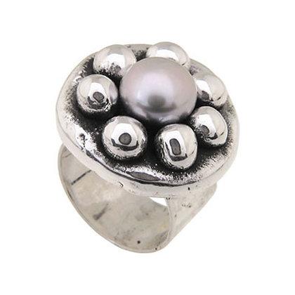 Кольцо PureSilver жемчуг