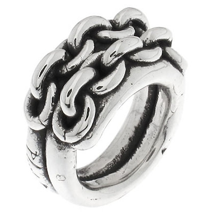 Кольцо PureSilver 2 цепи