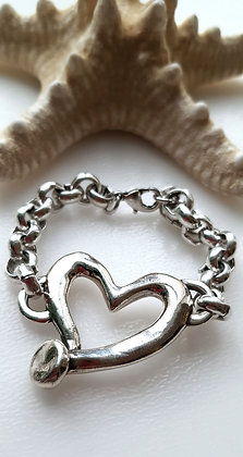 Браслет Сердце на цепи