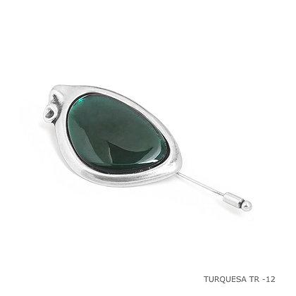 Брошь Ciclon Зеленый Belladona