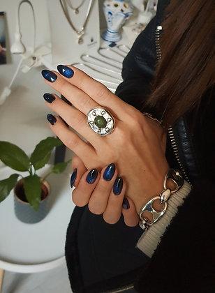 Кольцо серебро с вставкой