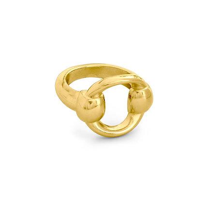 Кольцо Ciclon в золоте