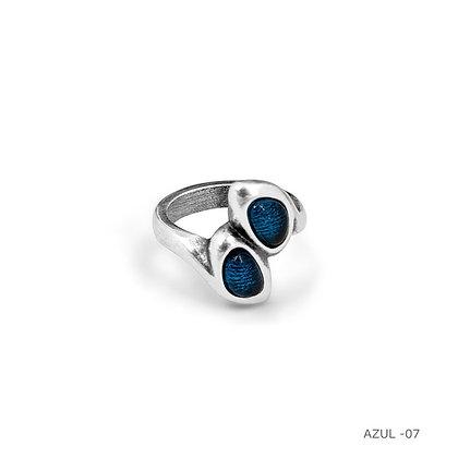 Кольцо Ciclón двойное синий