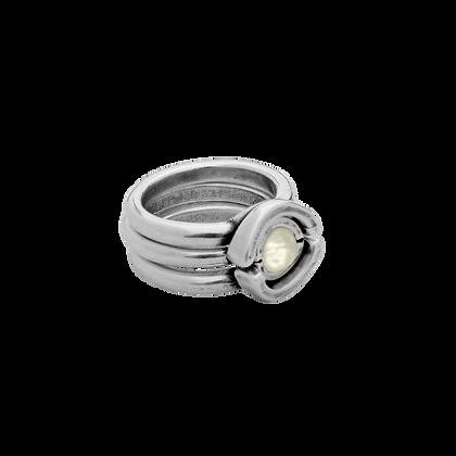 Кольцо Ciclón Unique с перламутром