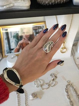 Кольцо Капля в серебре