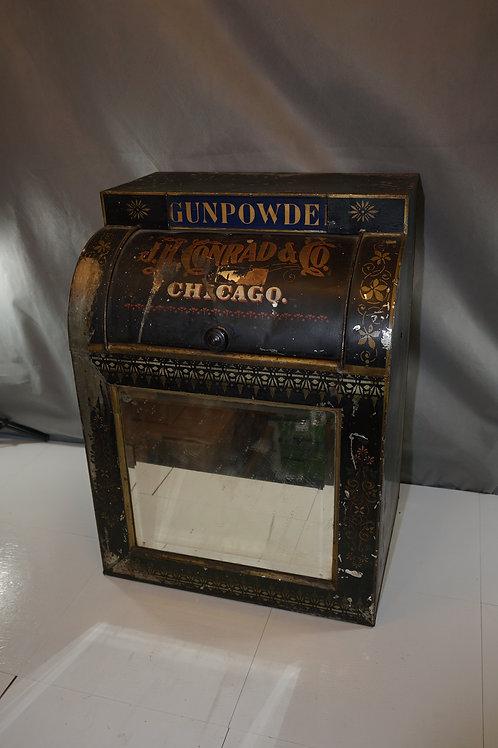 Late 1800s General Store Gunpowder Tin Dispenser