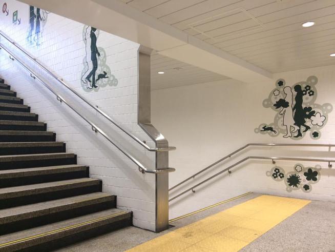 池袋駅西口階段