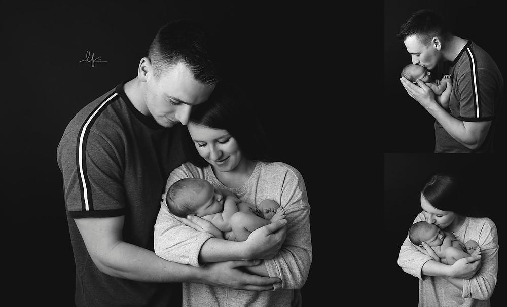 newborn baby with Mum/Dad