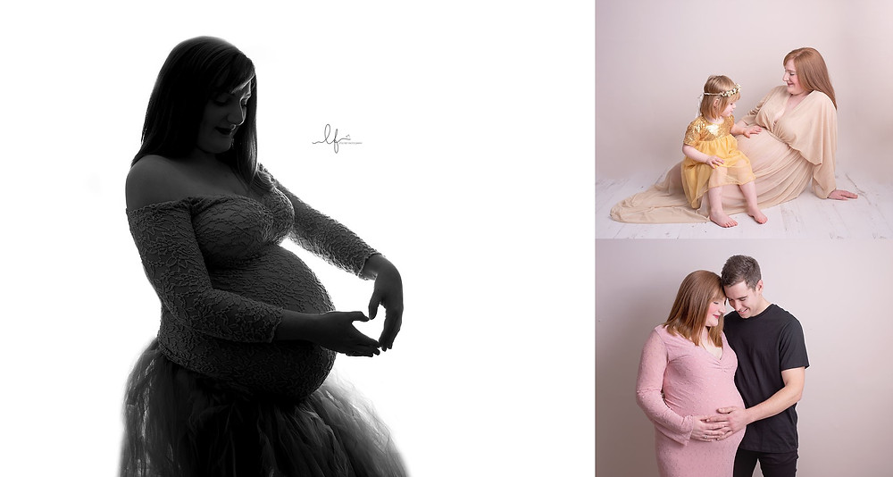 maternity photos with partners and siblings