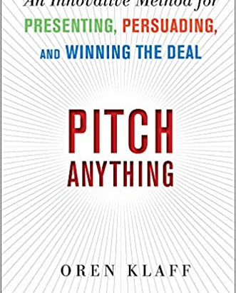 Product Management Book Review: Pitch Anything