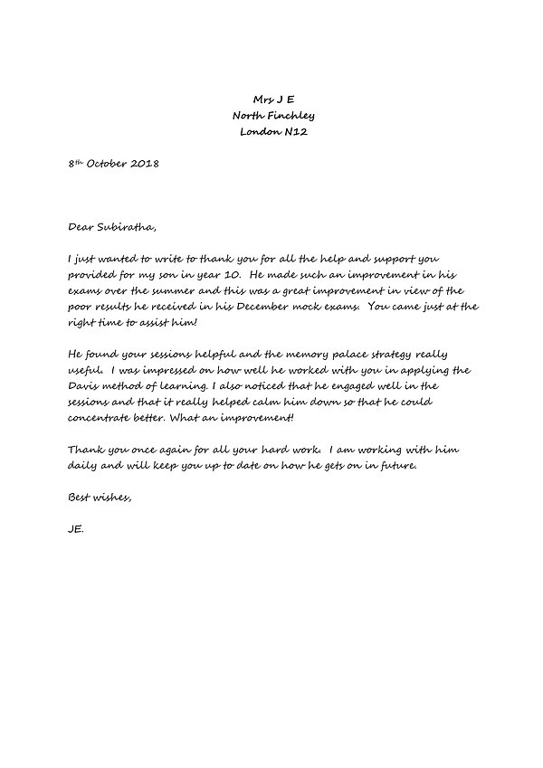 Joy Etete - thank you letter Subiratha.j