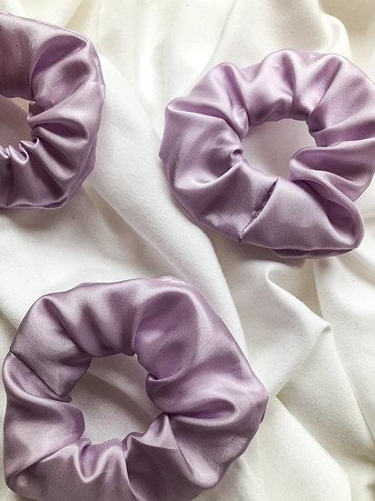 Scrunchie- Seide Violett