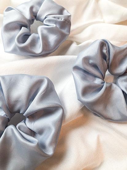 Scrunchie - Seide Hellblau