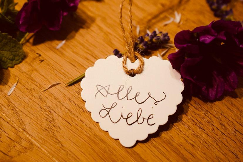 "Geschenksanhänger ""Alles Liebe""Herz"