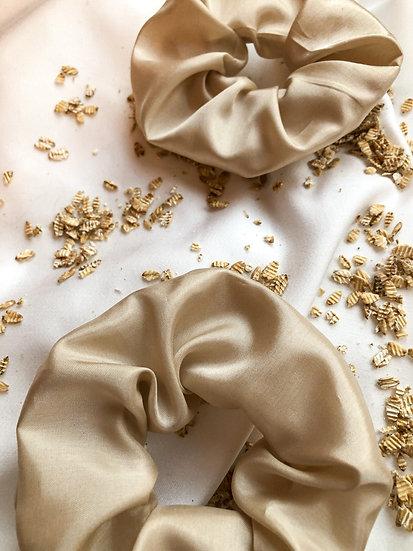 Scrunchie- Seide beige