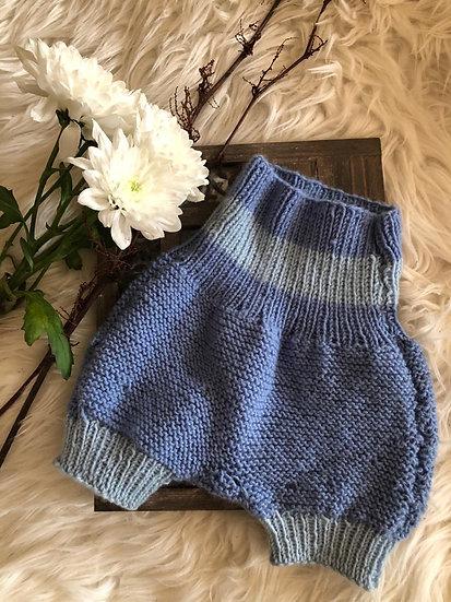 Baby Wollstrickhose Blau