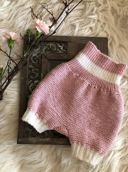 Baby Wollstrickhose Rosa