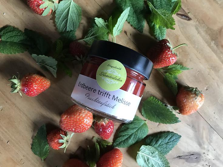Erdbeere Melisse Fruchtaufstrich