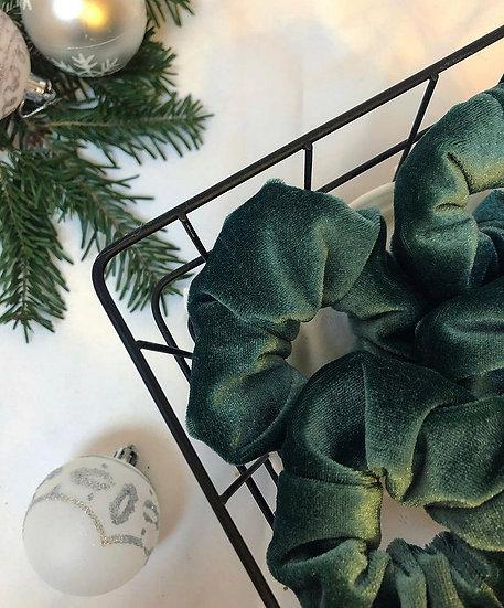 Scrunchie Samt-Grün
