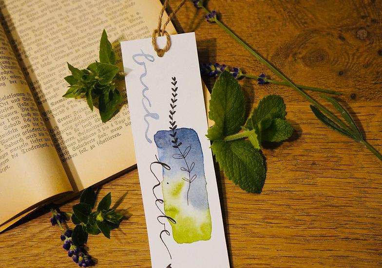 Lesezeichen Buchliebe Lavendel