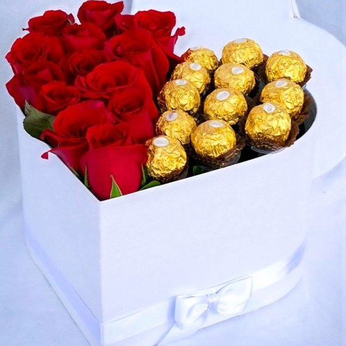 Flowers & Chocolate in A Box