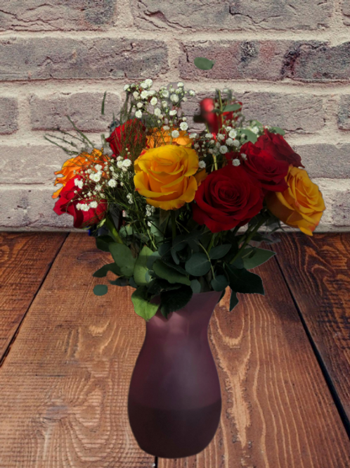 One dozen mix with vase different color available