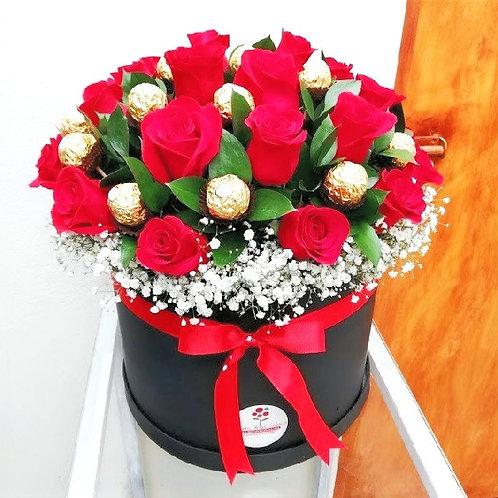 Round Chocolate Roses Box