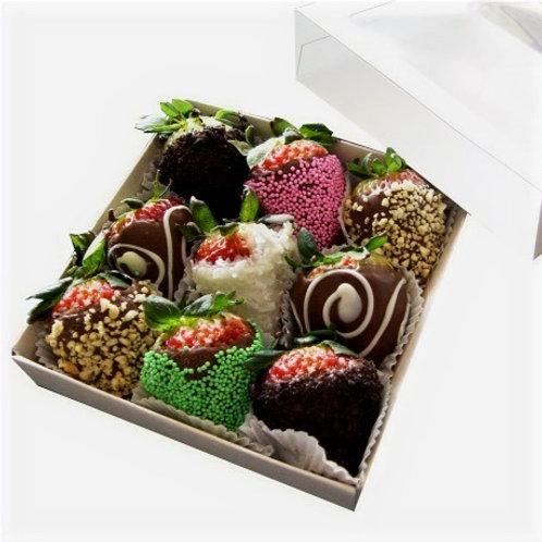 9 Chocolate covered strawberries 🍓