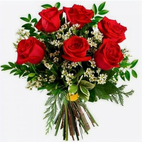 Signature Bouquet 6 Red Roses