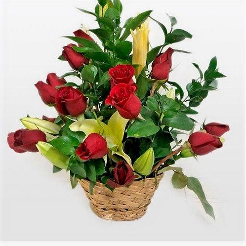 Flower Rose In A Basket