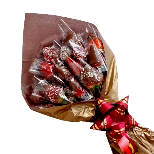 Chocolate cover strawberries bouquet