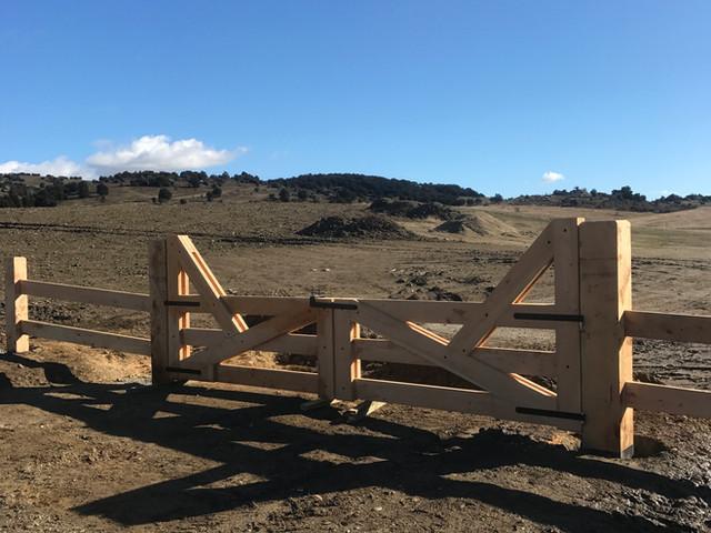 Entranceway Wooden Fencing
