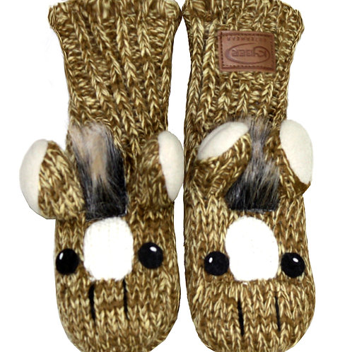 KBMA160 - ADULT HORSE PUPPET MITTENS