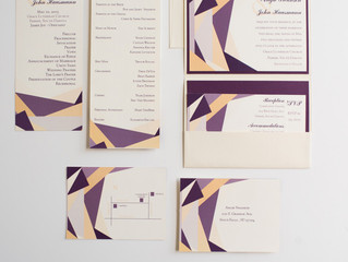 Invitation Spotlight: Color-blocked Stained Glass