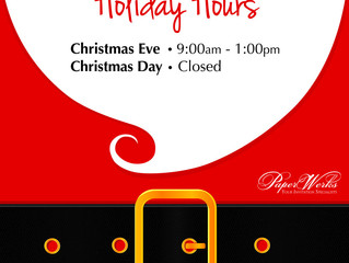 2013 Holiday Hours